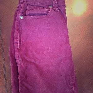 Aeropostale Burgundy Jeggings